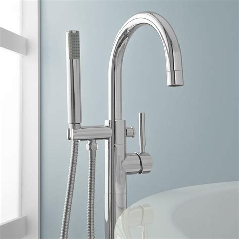 simoni freestanding tub faucet and hand shower bathroom