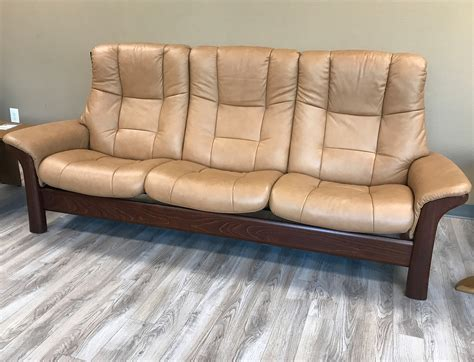 high back leather sofa stressless buckingham 3 seat high back sofa paloma taupe