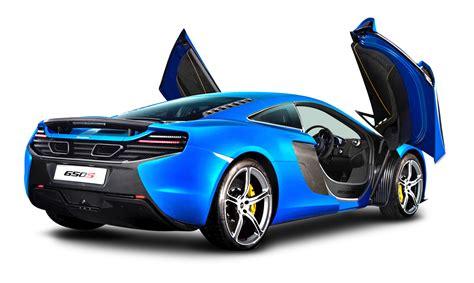 car wallpaper png blue mclaren 650s car back png image pngpix
