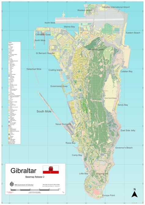 world map gibraltar large detailed map of gibraltar