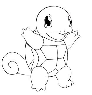 turtle pokemon coloring page how to draw squirtle draw central