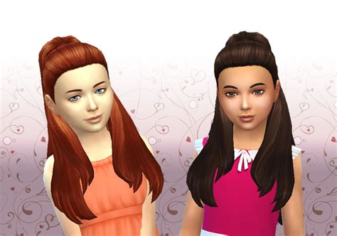 sims 4 children cc lana cc finds ariana hair for girls by kiara24 ts4