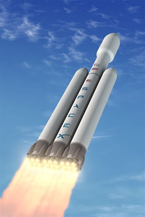 elon musk new rocket spacex unveils plan for world s most powerful private