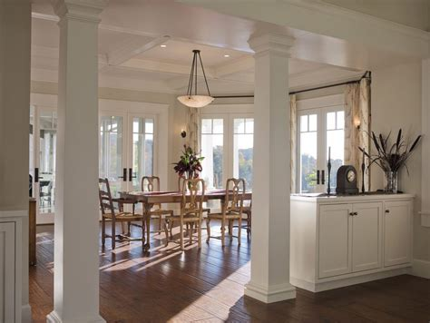 decorative pillars inside home column interior design entry transitional with coffee
