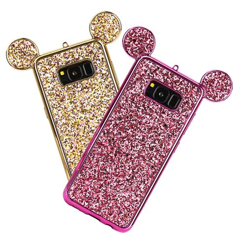 Samsung Galaxy S7 3d Mickey Mouse Ear With Stand Holder Tpu Softcase luxury 3d mickey mouse ear for samsung s8 s8 plus bling glitter cover soft phone