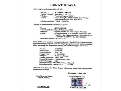 surat pemberitahuan surat undangan surat kuasa