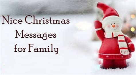 nice christmas messages  family merry christmas holiday wishes