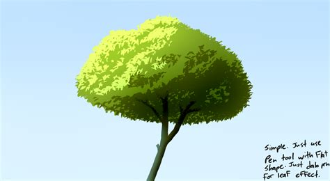 paint tool sai leaf brush practice sai tree by jincon on deviantart