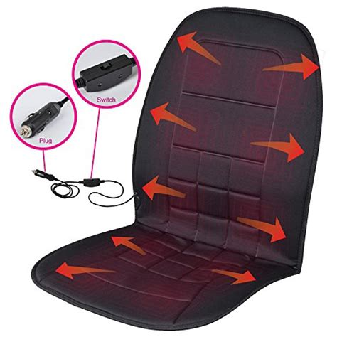 travel warmer heated seat cushion 12 volt padded thermal