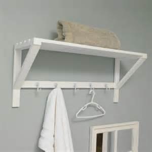 bathroom shelf with hooks white wall shelf with hooks bathroom storage towel rail