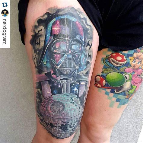 galaxy sleeve tattoo designs colorful galaxy darth vader venice designs