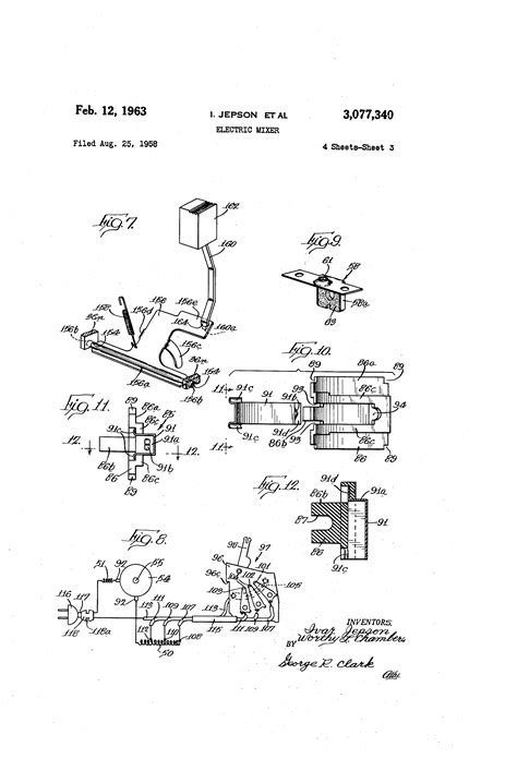 monarch 1110 parts diagram patent us3077340 electric mixer patentsuche