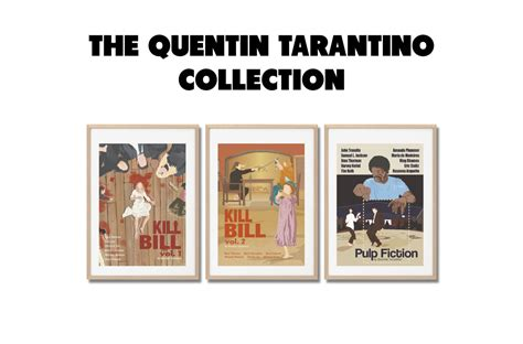 quentin tarantino film print collection quentin tarantino collection movie prints set posters a3