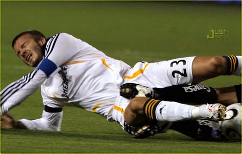 David Beckham Injures Knee In Soccer Match by David Beckham Gets Kicked In The Nuts Photo 553171
