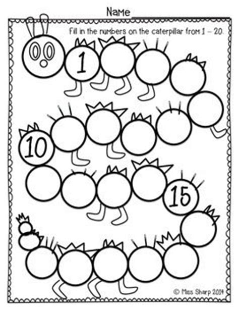 free printable caterpillar number line this simple worksheet was made for my students to continue