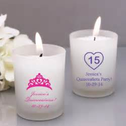 Quinceanera Giveaways - quincea 241 era personalized frosted glass candle favor quincea 241 era party favors