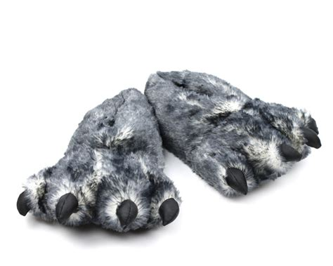 paw slippers wolf paw slippers