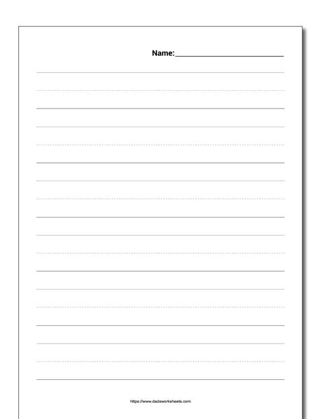 activity writing paper handwriting paper with name