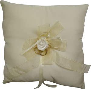 ivory square wedding ring cushion with rose partyrama co uk