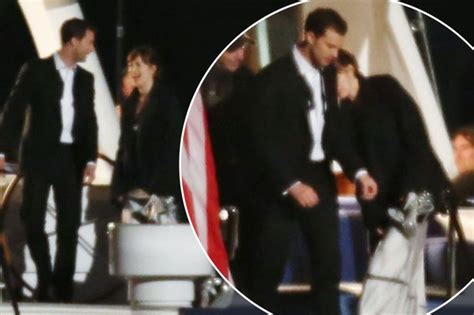 jamie dornan yacht 50 shades darker filming continues on luxury yacht after
