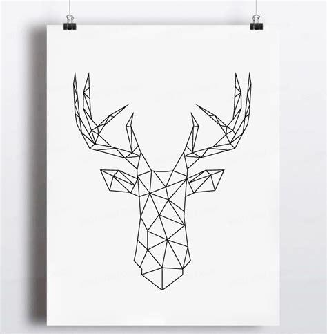aliexpress buy geometric deer canvas print