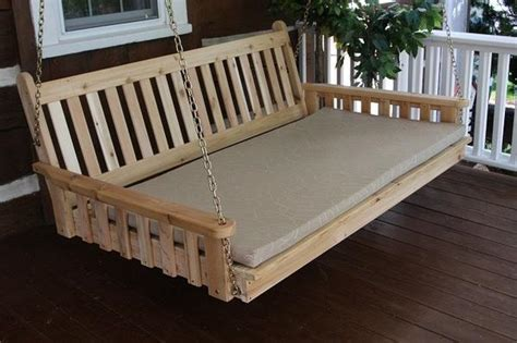 twin bed size porch swing traditional english red cedar twin size swing bed by a l