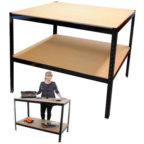 warehouse work benches black work bench shed rack heavy duty industrial metal