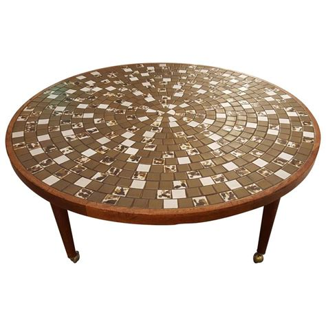 Tile Coffee Table Gordon And Martz Mosaic Tile Circular Coffee Table For Sale At 1stdibs