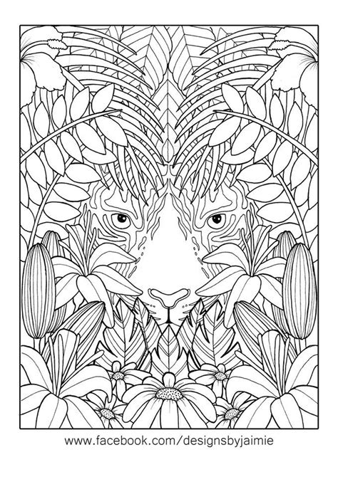 jungle coloring pages for adults 1069 best adult colouring animals zentangles images on