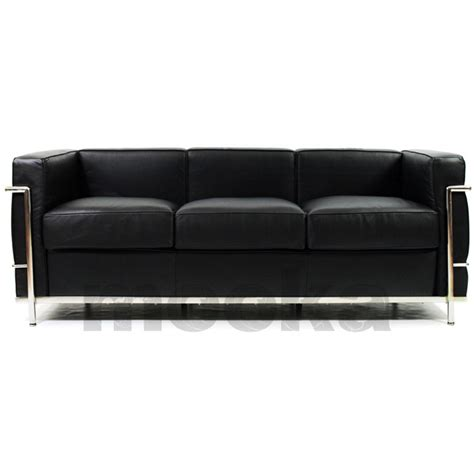 lc2 sofa le corbusier lc2 sofa 3 seater mooka modern furniture