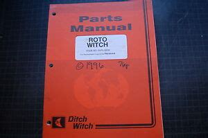 Ditch Witch Roto Witch Boring Attachment Parts Manual Book
