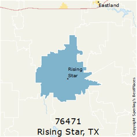 rising texas map best places to live in rising zip 76471 texas