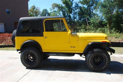cj jeep yellow cj 7 yellow black 4x4 jeep cj 1976 for sale