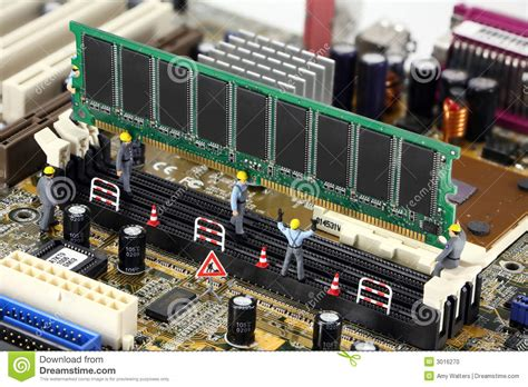 installing ram on pc workers install ram on pc stock photo image of memory