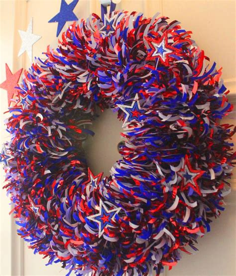 diy 4th of july wreath 4th july memorial day pinterest
