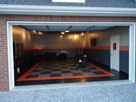 harley davidson garage ideas the harley room quot garage a three car garage walled into a two