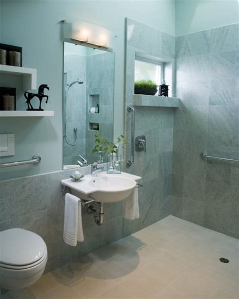 cool and calming wheelchair accessible bathroomuniversal