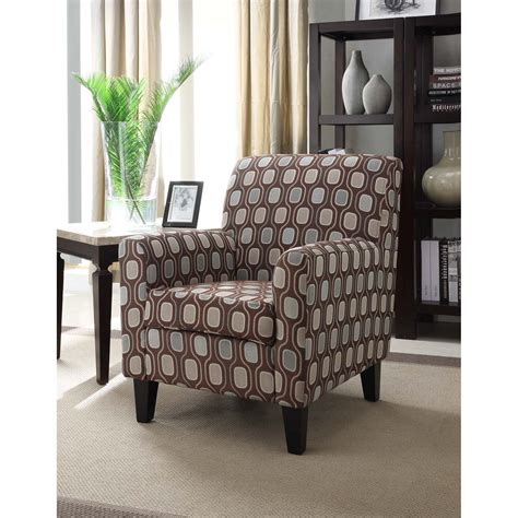 overstock living room chairs cream circle fabric design club chair overstock