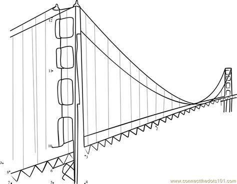 printable coloring pages golden gate bridge the golden gate bridge is just one attraction dot