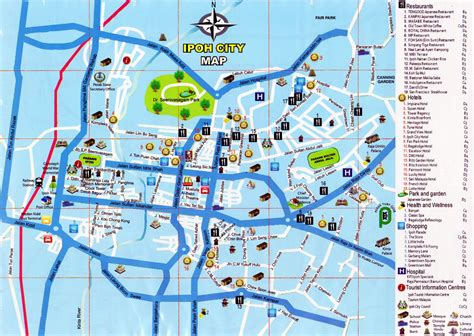city map ipoh city map