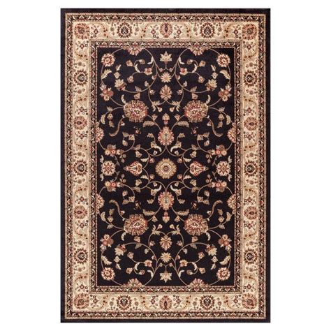 black area rugs 8x10 shop concord global valencia black rectangular indoor woven area rug common 8 x 10