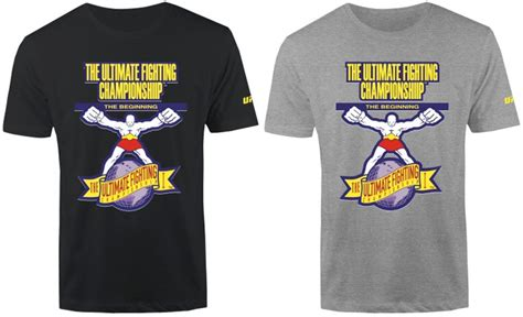T Shirt Ultimate Fighting Chionship The Ultimate Fighter 3q1u ufc the beginning logo t shirt