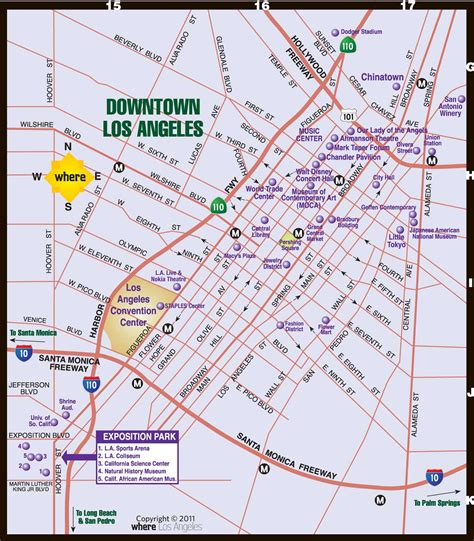 downtown map downtown la map where magazine downtown los angeles map