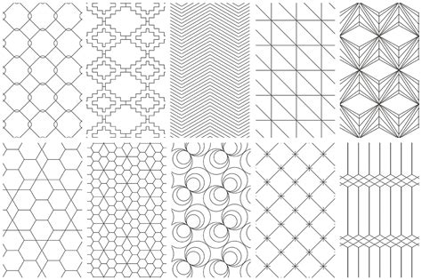 line pattern easy simple line geometric patterns by youan design bundles