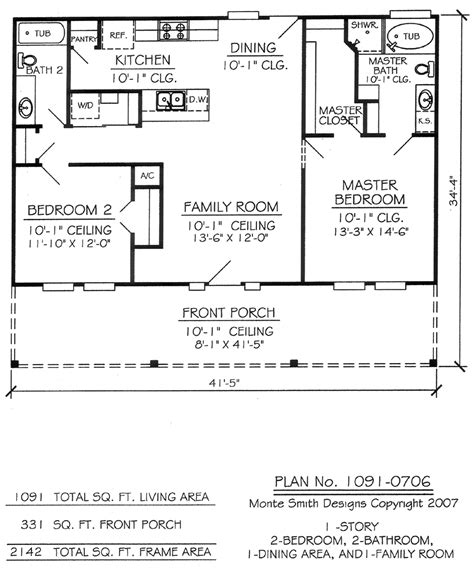 one bedroom one bath house plans two bedroom house plans 14 2 bedroom 1 bathroom