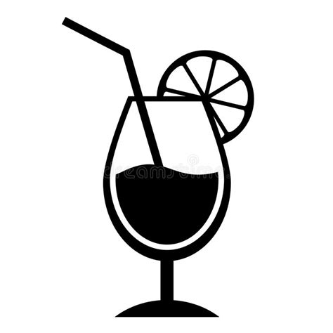 mixed drink clipart black and white cocktail icon stock vector illustration of liquid