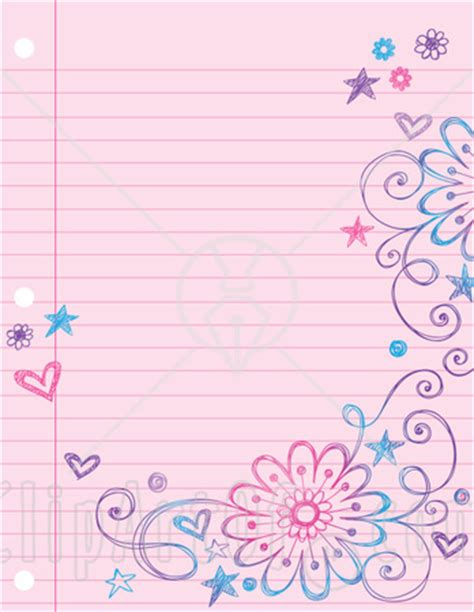 Lined Paper Kid Writing Paper With Borders Wish Could Find This Somewhere Clip Art Clipartbarn Border Paper Template 2