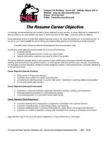 Career Objective For Job Career Objective Resume Example