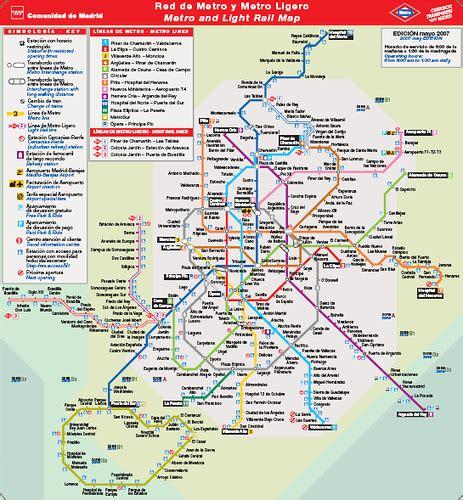 plano metro de madrid plano del metro de madrid no oficial plano en grande