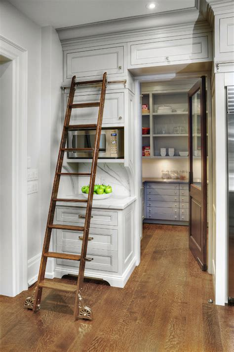 Pantry Ladder by Pantry Ladder Transitional Kitchen Benjamin